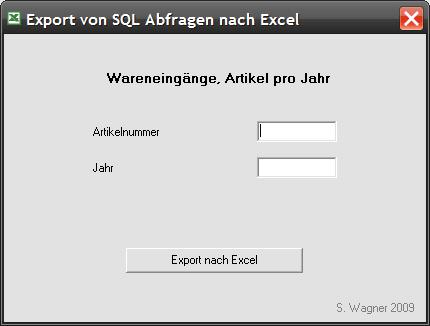 SQL2XLS